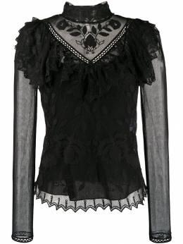 See By Chloe блузка с высоким воротником и вышивкой CHS19WHT14033