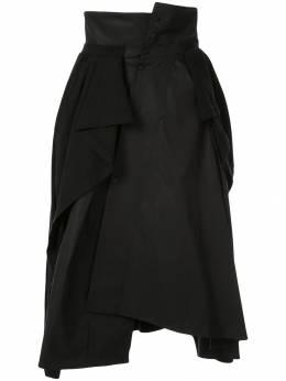 Aganovich юбка асимметричного кроя со вставками из джерси TS60