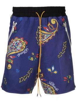 Rhude спортивные шорты с принтом 04ASR03001