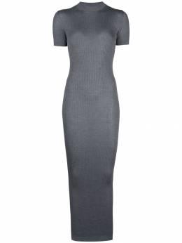 Vera Wang трикотажное платье макси в рубчик R419K02