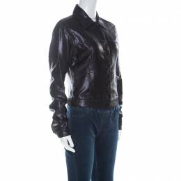 Gucci Black Lurex Knit Shiny Look Jacket M