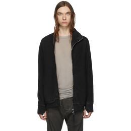 Boris Bidjan Saberi Black Double Dyed Zip-Up Jacket ZIPPER1 FMV00014