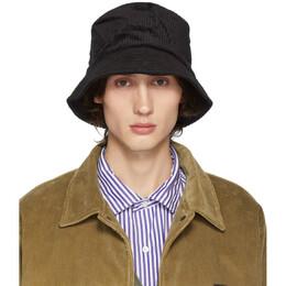 Engineered Garments Black Corduroy Bucket Hat 192175M14000301GB