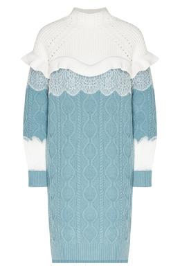 Контрастное шерстяное платье Fendi 1632151551