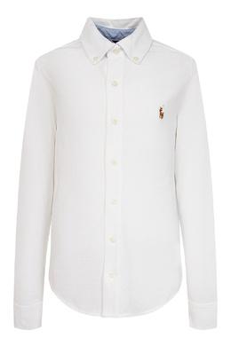 Белая рубашка с вышивкой Ralph Lauren Kids 1252151625