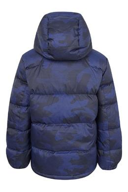 Синяя куртка с капюшоном Ralph Lauren Kids 1252151713
