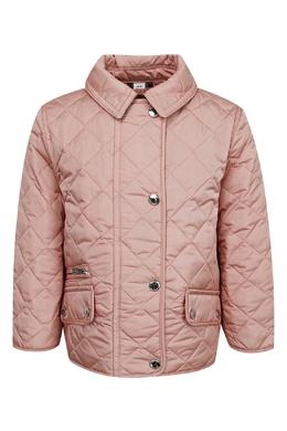 Стеганая куртка пудрово-розового оттенка Burberry Kids 1253151719