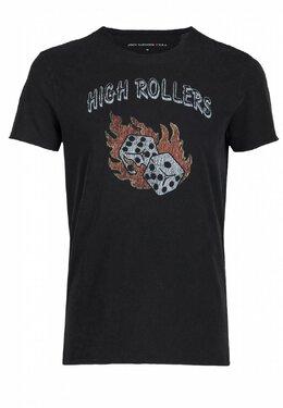 Черная футболка с игральными костями John Varvatos 627151981