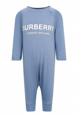 Детский комплект голубого цвета Burberry Kids 1253151771