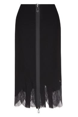 Черная юбка-миди с кружевом Fendi 1632151514