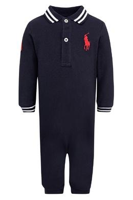 Черный комбинезон с красным логотипом Ralph Lauren Kids 1252151910