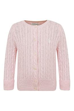 Вязаный розовый кардиган Ralph Lauren Kids 1252151900