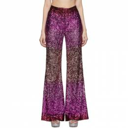 Halpern SSENSE Exclusive Pink Sequin Stovepipe Trousers A19TR01.7