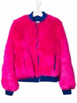Alberta Ferretti Kids фактурная куртка 020298