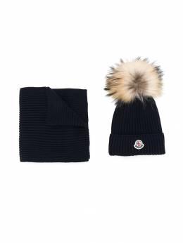 Moncler Enfant комплект из шарфа и шапка бини 009510604S01