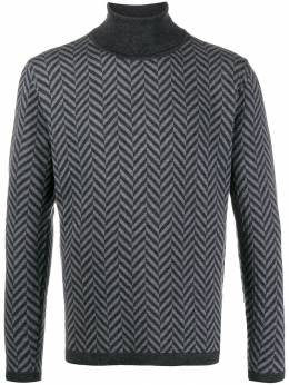 Barena свитер с высоким воротником и геометричным узором MAU25140353