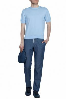 Голубой джемпер с короткими рукавами Fedeli 680152242