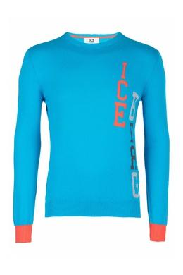 Голубой джемпер с контрастной отделкой Ice Iceberg 1479152039