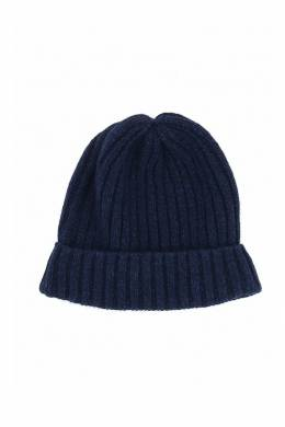 Темно-синяя шапка-бини с отворотом Fedeli 680152286