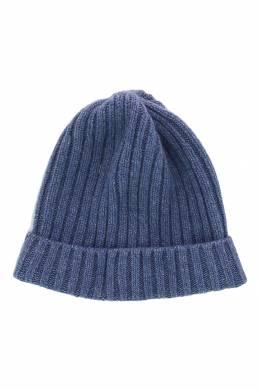 Синяя шапка-бини с отворотом Fedeli 680152284