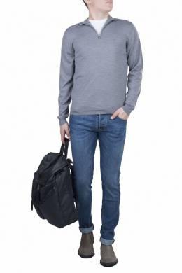Серый свитер с короткой застежкой-молнией Fedeli 680152276