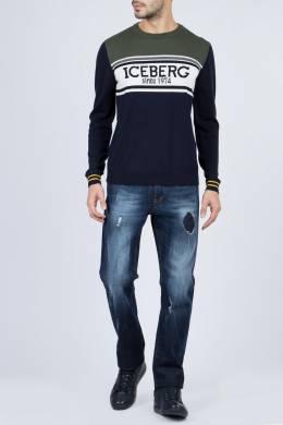 Джемпер с логотипом и отделкой Iceberg 1214152329