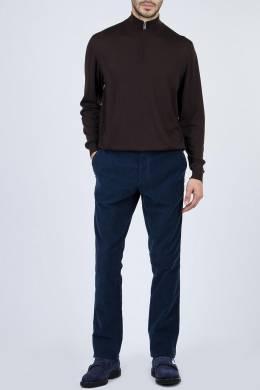 Коричневый свитер с застежкой-молнией Fedeli 680152317