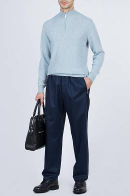 Голубой свитер с застежкой-молнией Fedeli 680152308