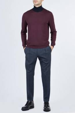 Пурпурный свитер с контрастной отделкой Fedeli 680152311