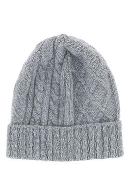 Серая шапка-бини фигурной вязки Fedeli 680152297