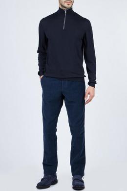 Темно-синий свитер с застежкой-молнией Fedeli 680152303