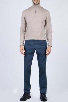 Бежевый свитер с застежкой-молнией Fedeli 680152302