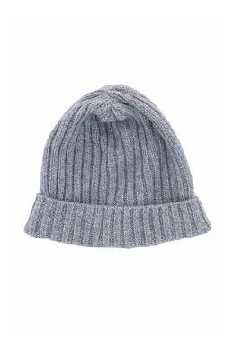 Голубая шапка-бини с отворотом Fedeli 680152280