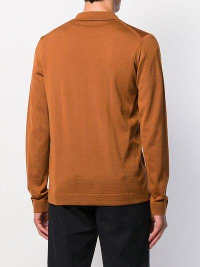 Roberto Collina рубашка-поло с длинными рукавами RB01004 - 4