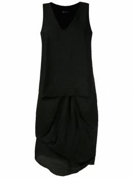Uma | Raquel Davidowicz короткое платье Roterdam с плиссировкой VESTIDOROTERDAM02SS20