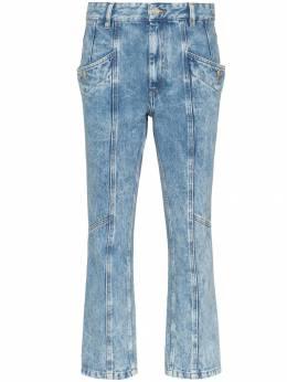 Isabel Marant Etoile укороченные джинсы Notty со вставками PA139919A022E
