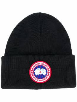 Canada Goose - шапка бини с помпоном и логотипом 936L3995388989000000