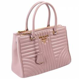 Prada Nude Quilted Soft Leather Diagramme Bag 297317