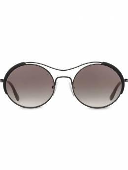 Prada Eyewear солнцезащитные очки в круглой оправе SPR55VE264