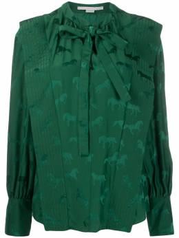 Stella McCartney жаккардовая блузка с завязками 591904SNA57