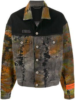 Heron Preston джинсовая куртка с принтом тай-дай HMYE002F197970167609