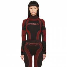 Misbhv SSENSE Exclusive Black and Red Active Turtleneck 119SSNS151
