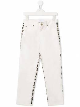 Roberto Cavalli Junior брюки с леопардовым принтом IJT203CE035