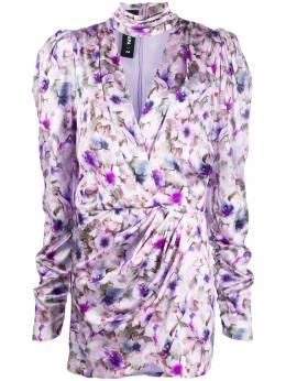 Filles A Papa платье с запахом и цветочным принтом 33BUNNYDRESS