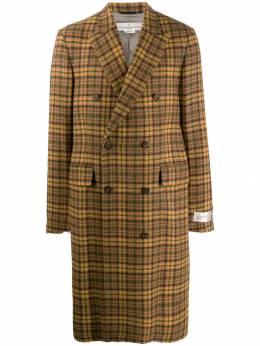 Golden Goose двубортное твидовое пальто G35MP565A2