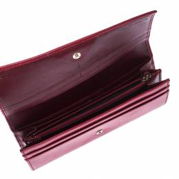 Fendi Red Leather Flap Continental Wallet 226615