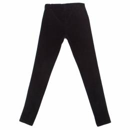 Joseph Black Cotton Elastic Waist Skinny Corduroy Trousers S 222856