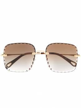 Chloe Eyewear солнцезащитные очки в массивной оправе CE161S