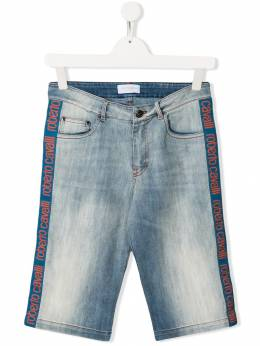 Roberto Cavalli Junior брюки с логотипом на лампасах IJJ251DS029