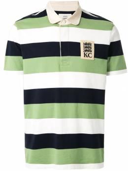 Kent & Curwen полосатая рубашка-поло с нашивкой-логотипом K39M0TM020